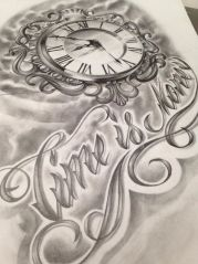 time is money tattoo design