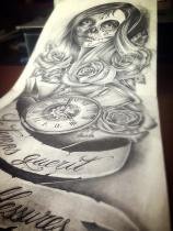chicano sleeve tattoo design