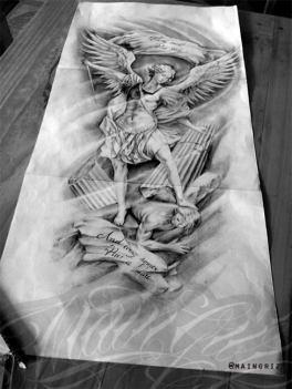 angel sleeve tattoo design