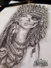 indian amerindian tattoo design