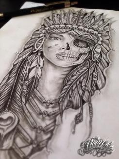 indian amerindian tattoo design