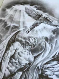 angel sleeve tattoo design
