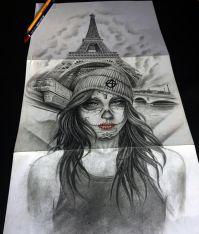 catrina and paris tattoo design