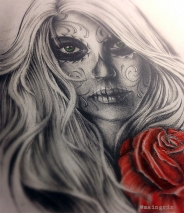catrina tattoo design