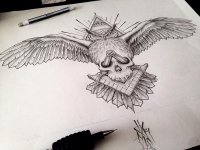 masonic owl tattoo design