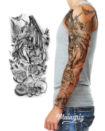 antik sleeve tattoo design