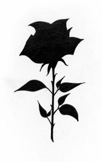 Full black rose tattoo design for woman created by Maingriz.com