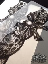 lace garter skull custom tattoo design