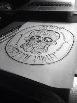 Skull logo tattoo design