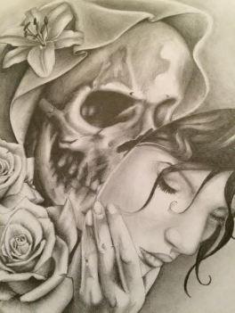 skull mask face custom tattoo design