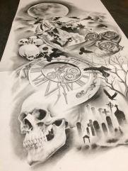 skull custom tattoo design