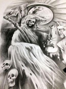 skull reaper custom tattoo design